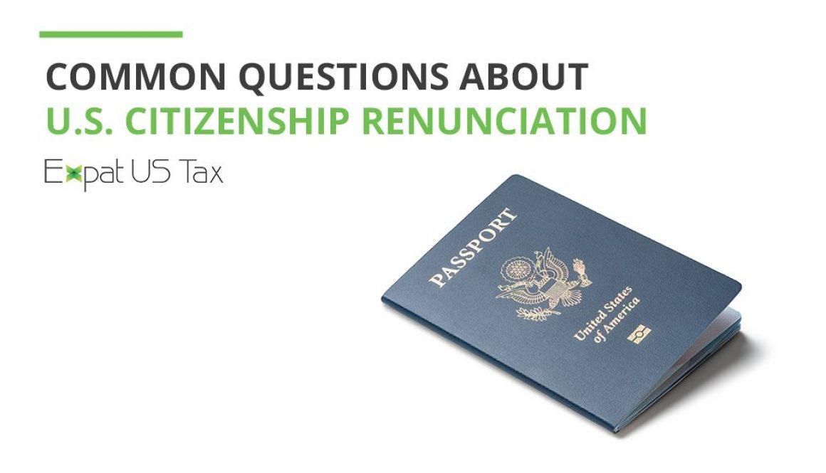 Renouncing US Citizenship