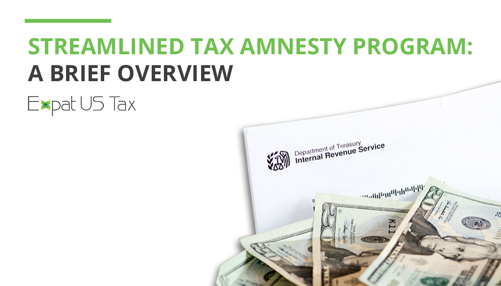 How does the streamlined tax amnesty program work?